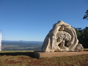 Sculpture installed on Tamborine Mountain